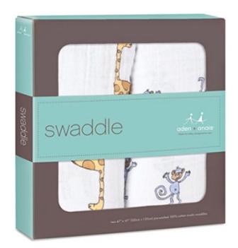 おくるみ スワドル aden+anis classic swaddle 2-pack ジャングルジャム